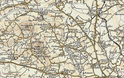 Old map of Wheal Vor in 1900