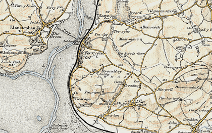 Old map of Broadlay in 1901