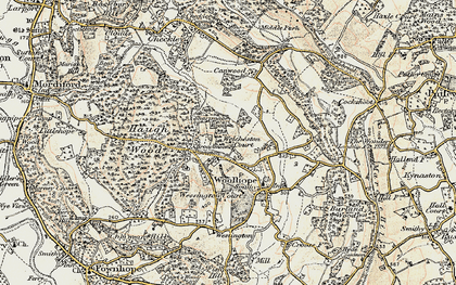 Old map of Broadmoor Common in 1899-1901