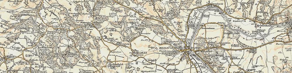 Old map of Broadplat in 1897-1909