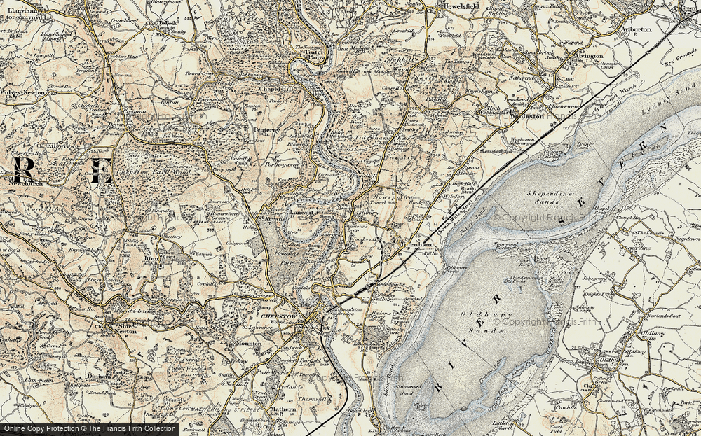 Old Map of Historic Map covering Ashberry Ho in 1899-1900