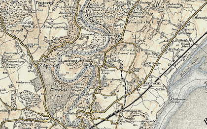 Old map of Wintour's Leap in 1899-1900
