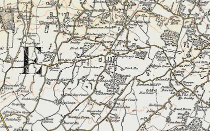 Old map of Woodsden in 1897-1898