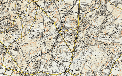 Old map of Broadstone in 1897-1909