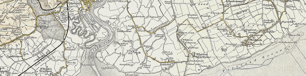 Old map of Broadstreet Common in 1899-1900