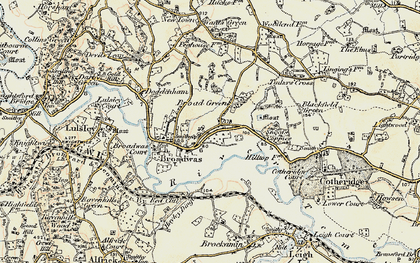 Old map of Broadwas in 1899-1902