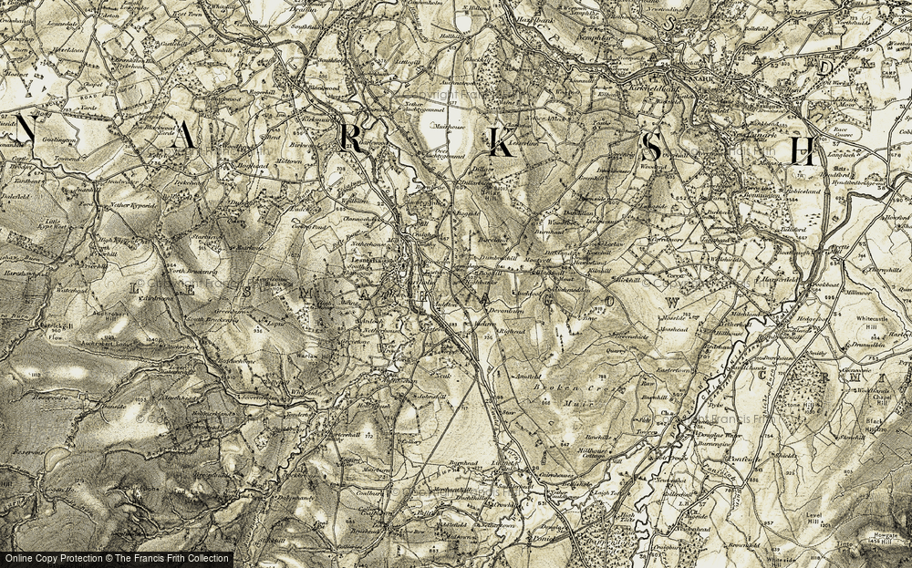 Old Map of Historic Map covering Auldtoun in 1904-1905