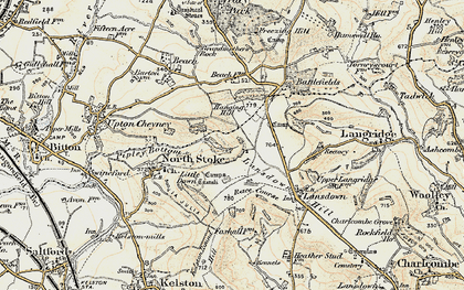 Old map of Brockham End in 1899