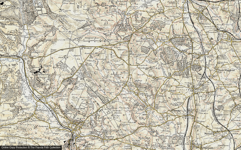 Old Map of Historic Map covering Alicehead in 1902-1903
