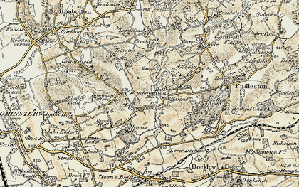 Old map of Bach in 1899-1902