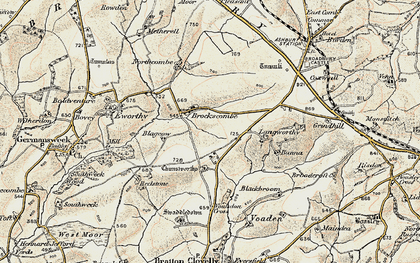 Old map of Bannadon in 1900