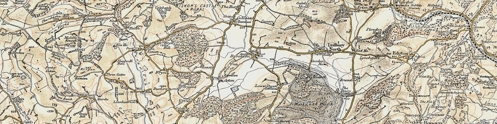 Old map of Acton Bank in 1901-1903