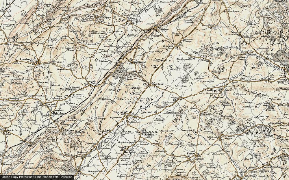 Old Map of Historic Map covering Larden Grange in 1902