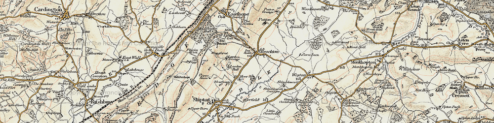 Old map of Larden Hall in 1902