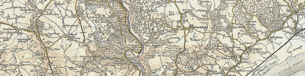 Old map of Brockweir in 1899-1900