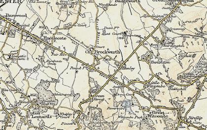 Old map of Brockworth in 1898-1900