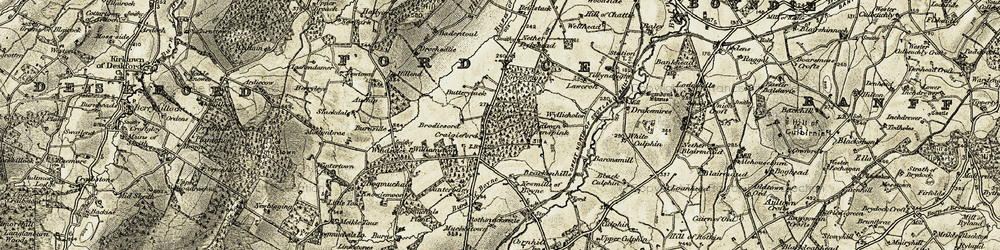 Old map of Windsole in 1910