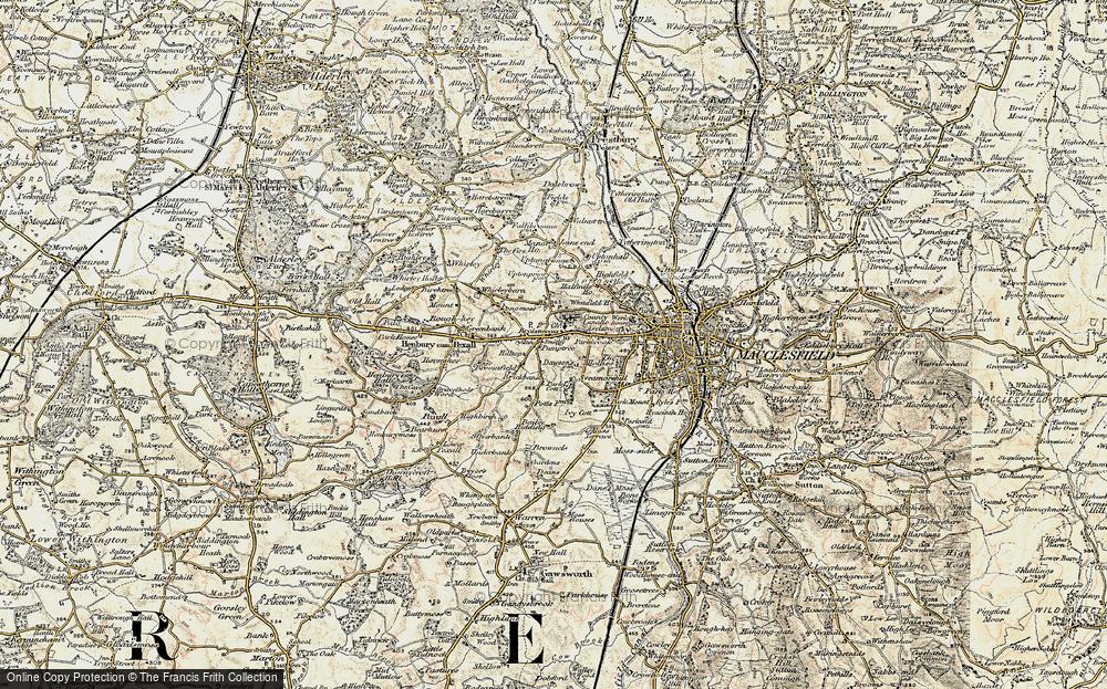Old Map of Broken Cross, 1902-1903 in 1902-1903