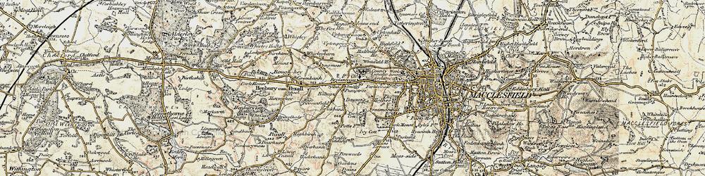 Old map of Broken Cross in 1902-1903