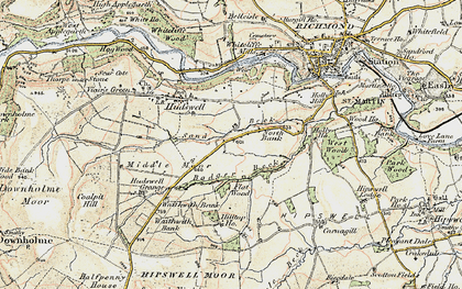 Old map of Badger Beck in 1903-1904
