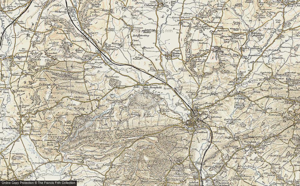 Old Map of Bromfield, 1901-1903 in 1901-1903