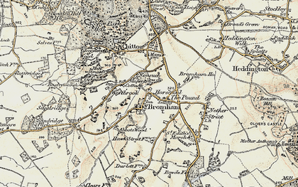 Old map of Bromham in 1898-1899