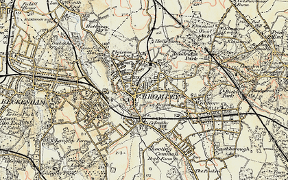 Old map of Bromley in 1897-1902