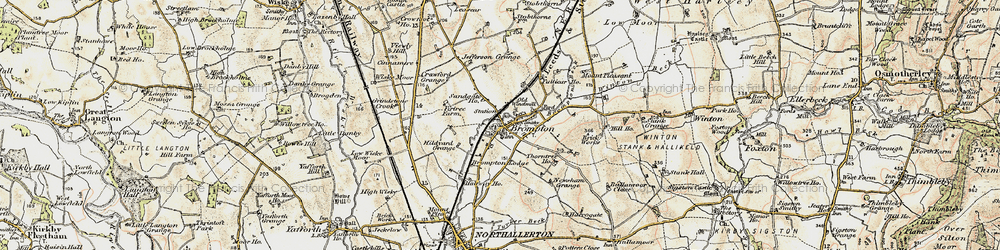 Old map of Brompton in 1903-1904