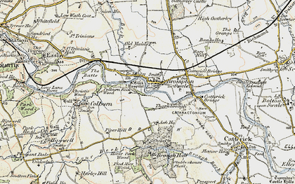 Old map of Brompton-on-Swale in 1903-1904