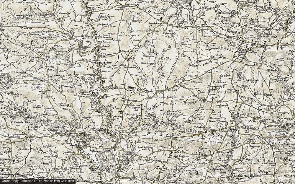 Old Map of Historic Map covering Woolcotts in 1898-1900