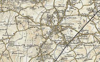 Old map of Bromsgrove in 1901-1902