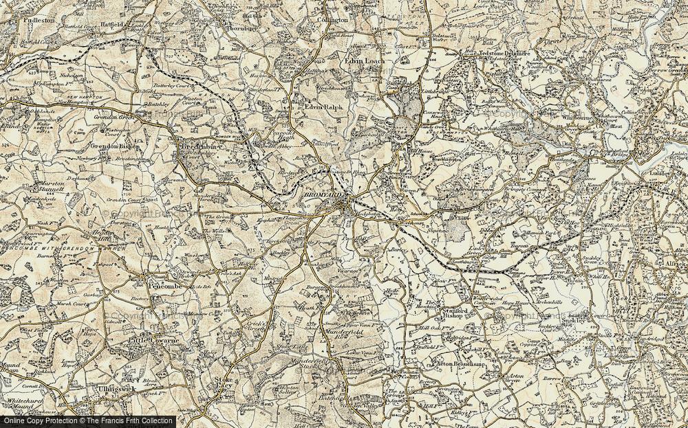 Old Map of Bromyard, 1899-1902 in 1899-1902
