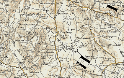 Old map of Bronant in 1901-1903