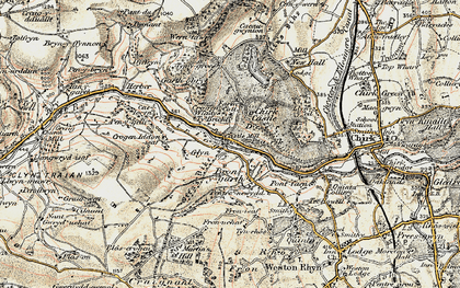 Old map of Bronygarth in 1902-1903