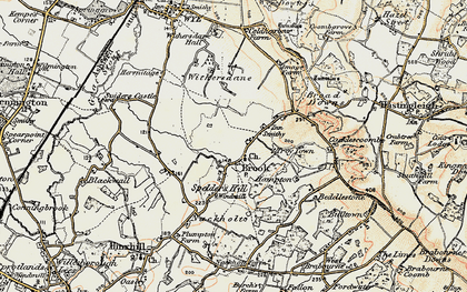 Old map of Brook in 1897-1898