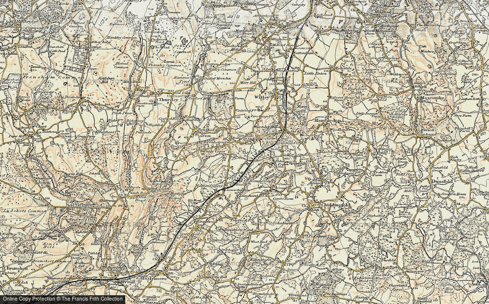 Old Map of Historic Map covering Witley Sta in 1897-1909