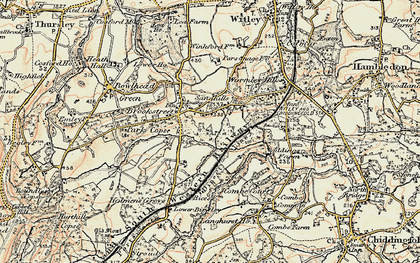 Old map of Brook in 1897-1909