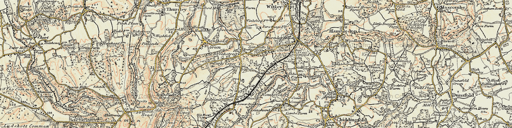 Old map of Witley Sta in 1897-1909