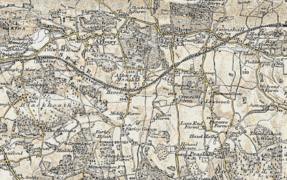 Old map of Brook in 1898-1909