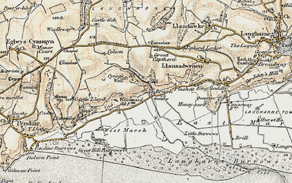 Old map of Windleway in 1901