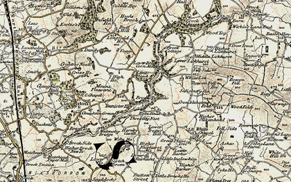 Old map of Banister Hey in 1903-1904