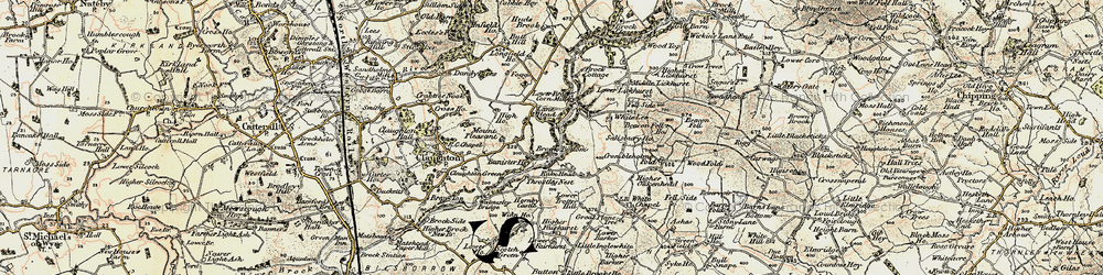 Old map of White Lee in 1903-1904