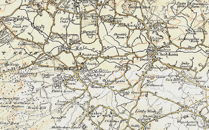 Old map of Brook Place in 1897-1909