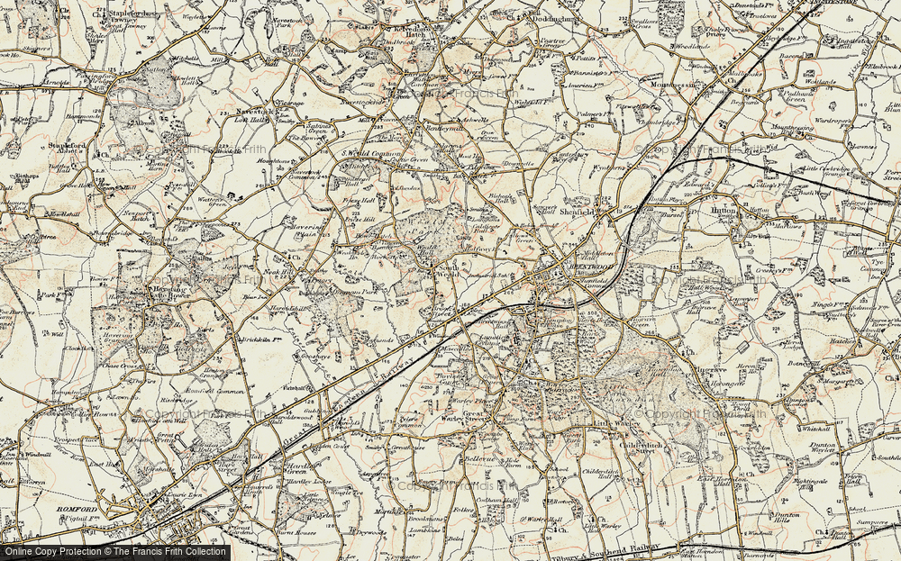 Old Map of Historic Map covering Langtons in 1898
