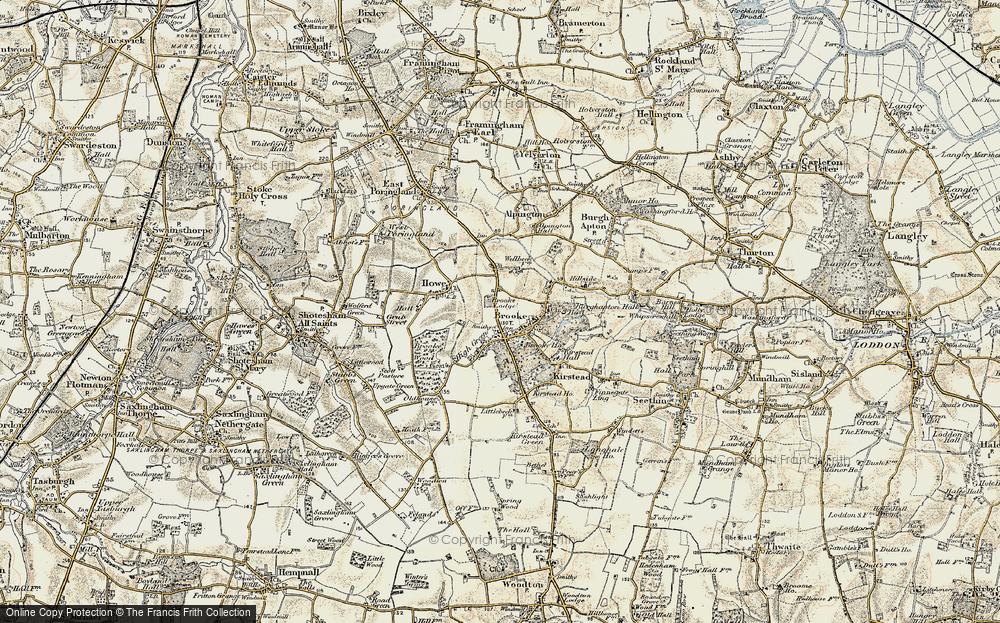 Old Map of Brooke, 1901-1902 in 1901-1902