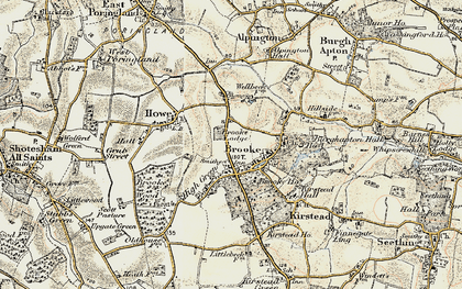 Old map of Brooke in 1901-1902