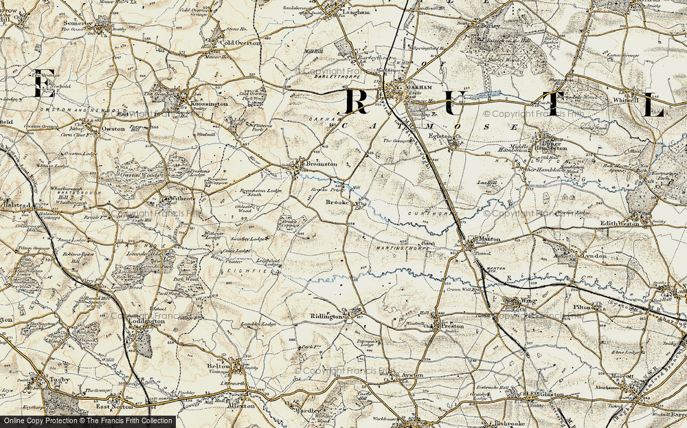 Old Map of Historic Map covering Leigh Lodge in 1901-1903