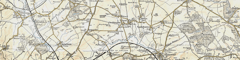 Old map of Brookend in 1898-1899