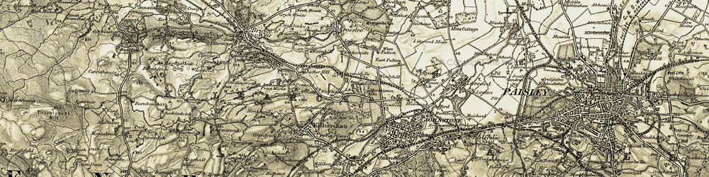 Old map of White Ho in 1905-1906