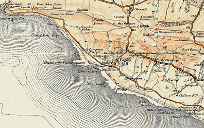 Old map of Hanover Point in 1899-1909